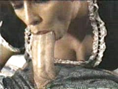 Heather Lee maid engulfing cock