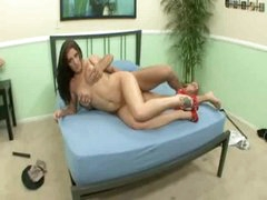 Angel is horny as hell and making her stud feel good
