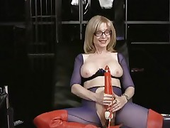 Nina Hartley loves tormenting her juicy wet slot