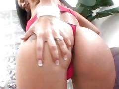 Raunchy Raylene bounces her tattooed butt