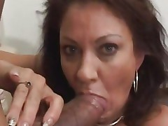 Vanessa Videl stuffs this hard dick down her throat