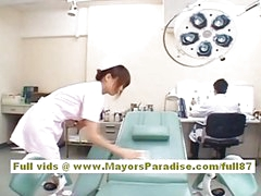Akiho Yoshizawa Sexy Oriental nurse enjoys teasing the doctor