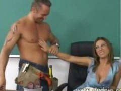 Construction Worker Finds Hot Teacher Devon Lee At Her Desk And Makes Her Engulf His Dick Before He Fucks Her Cookie Right There In The Classroom Mature Breasts Cumshot