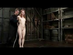 Redhead Girl Getting Bondaged Pussy Fingered By Master In The Dungeon
