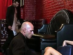 Asa Akira, Diamond Foxxx, Jessica Jaymes, Johnny Sins, Jordan Ash and Scott Nails in the luxury fucking club