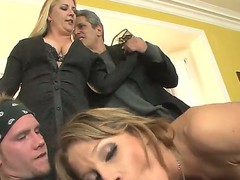 This is hot threesome fuck video with Herschal Savage, Nikki Sexx and Sonny Hicks, guys got the girl betwixt them and fucking her in two holes at the same time!