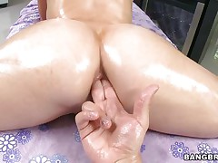 kagney linn getting fingered in the ass