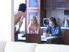 Alluring legal age teenager cuckold sex