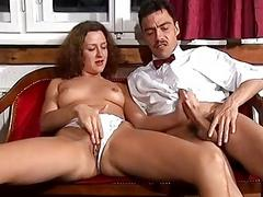German chick takes a big cock