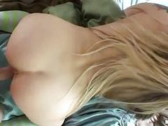 Bootylicious golden-haired in socks gets nailed doggy style