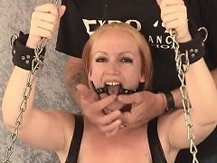 Take a look at this blonde bitch Tori as that babe is chained to the...