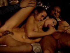 Glamorous and gorgeous Euro girl threesome