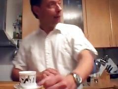 Hot German MILF gets taken in the kitchen