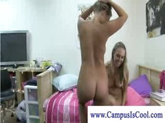 Nasty colle girls undressing and kissing