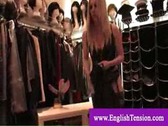 Dominatrix shows her tailored made boots collection